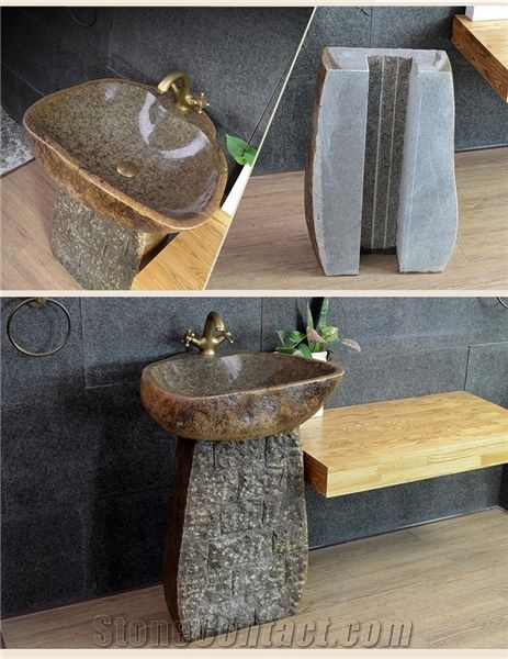 Home U003eu003e Sinks Basins U003eu003e Hot Sale Natural Boulder Stone Garden Sink,Pebble  Basin,Rome Stone,Antiqued Garden Washing Sink
