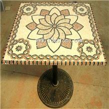 New Design Oasis Luxury Garden Furniture Patio Stone Mosaic Square Table,Desktop