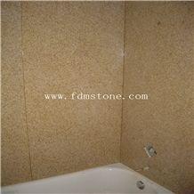 Yellow Granite Bathroom Tub Surround Natural Stone Bath Tub Shower Pannel