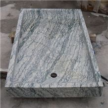 White Marble with Veins Shower Tray Base