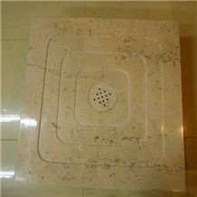 Yellow Limestone Shower Tray / Base