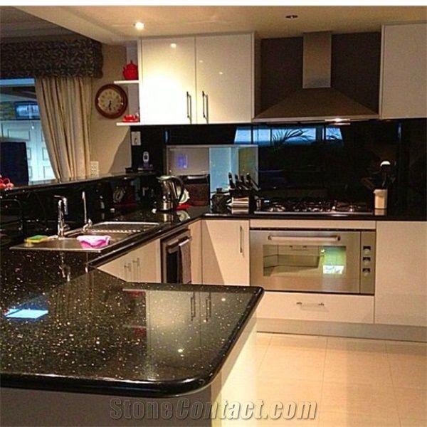 Black Galaxy Granite Kitchen Countertopsblack Granite Worktops