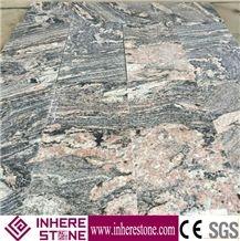 Juparana Pink Granite Tiles & Slabs, Hebei Desert Flowing Gold Granite Tiles 60x60