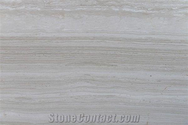 Wooden White Marble Big Slab Tile Guizhou Grey Wood Light