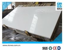Quartz Slab Pure White, Pure Color Series Quartz Stone Slab, Quartz Surfaces, Cut-To-Size Quartz Tiles for Kitchen Bathroom Decoration