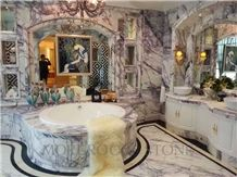 Milas Lilac Marble for Bath Design, Interior Floor and Wall Decoration