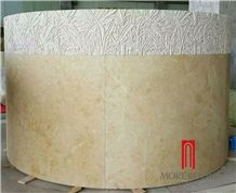 Natural Marble Round Hollow Marble Column