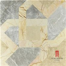 Venus Grey Marble-Ceramic Backed Medallion