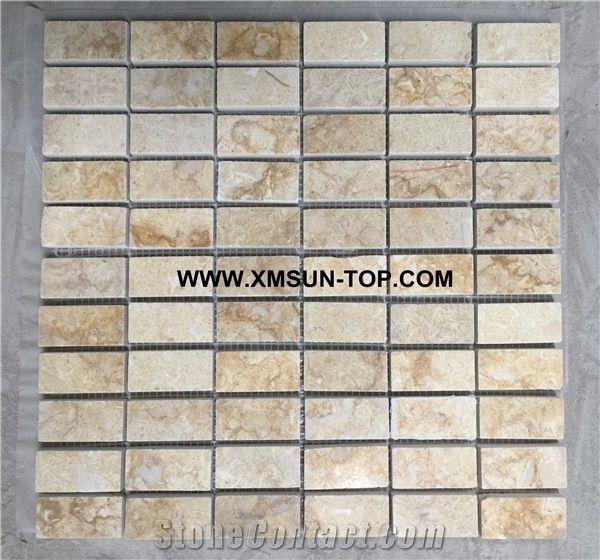 Beige Stone Linear Strips Mosaic Decorative