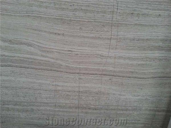 China Popular Light Wood Grain Grey Marble Veined Grey