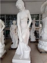 White Marble Handcarved Sculptures ,Angel Statues ,Marble Statue, Garden Sculpture
