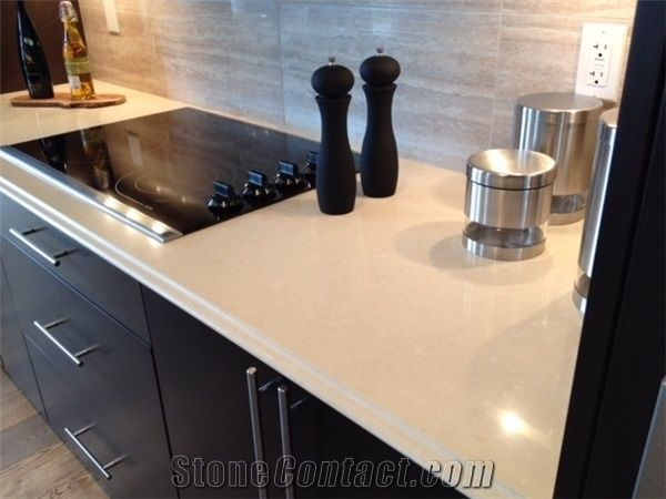 Home Kitchen Countertops Quartz Surface Marble Color Manmade Stone Carrara China Engineered Artificial