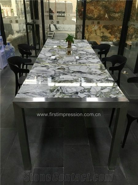 Best Price Luxury Marble Big Slab Green Marble Tile Slab White Beauty Ice Connect Marble Chinese Green Marble Tiles Cut To Size Ice Green White And Green Marble Tiles For Wall Floor Covering Quanzhou First