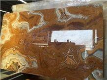 Yellow Onyx Slabs/Brown Onyx Slabs/Brown Onyx Tiles/Golden Brown Onyx/Golden Dragon Onyx Slabs & Tiles/China Yellow Onyx/China Yellow Honey Onyx Slabs China Honey Onyx Big Slabs