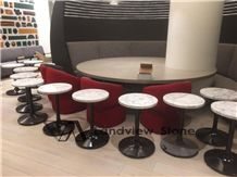 Statuario Table Tops, Carrara Table Tops, Round Table Top