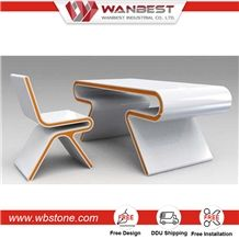 High Quality Artificial Stone Solid Surface Director Office Desk