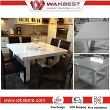 High Quality Modern White High Gloss Artificial Stone Dining Table