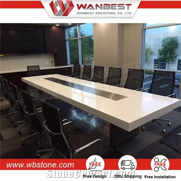 High Quality Office Furniture New Design Artificial Stone Conference  Table/Meeting Table For Meeting Hall