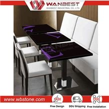 High Quality White Square Artificial Stone Table Walmart Table and Chairs Inversion Table