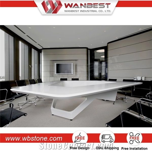 New Arrived Artificial Stone Commerical Furniture Triangle - Triangle conference table