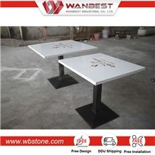 Rectangle Dinning Table with Chair Sets ,Colorful Artificial Stone Dinning Tables and Chairs