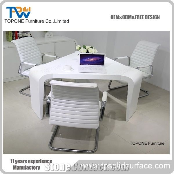 Seats White Artificial Marble Stone Conference Table DesignCorian - Corian conference table