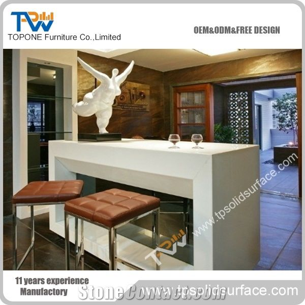 Home U003eu003e Tabletops Reception U003eu003e Artificial Marble Stone Acrylic Solid  Surface Home Mini Bar Counter Design For Bar Furniture