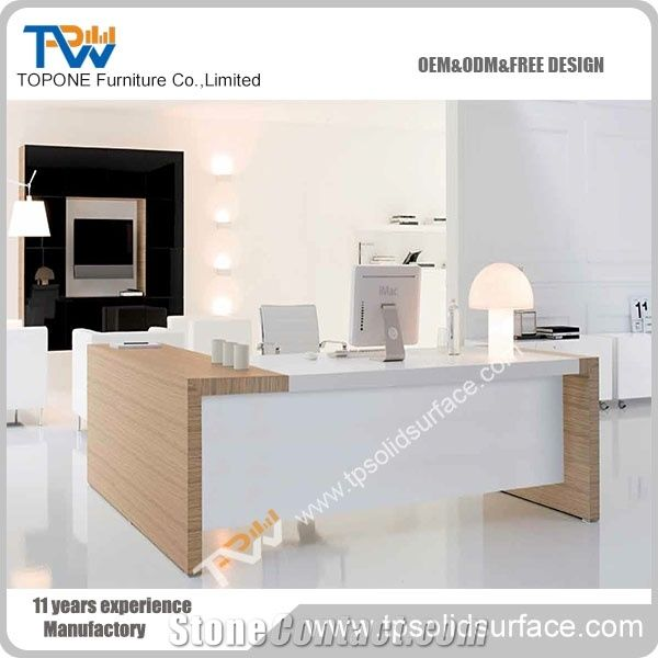 Artificial Marble Stone and Wooden Latest Office Table ...