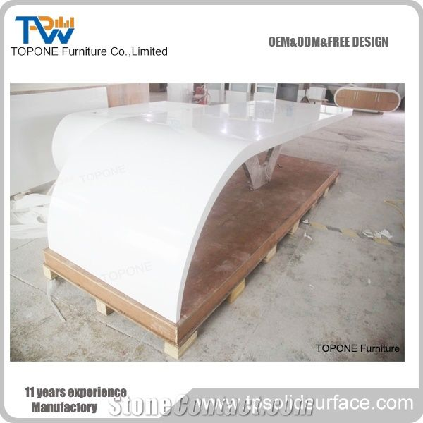 Corian White Acrylic Solid Surface L Shaped Conference Tables Withe - L shaped conference table