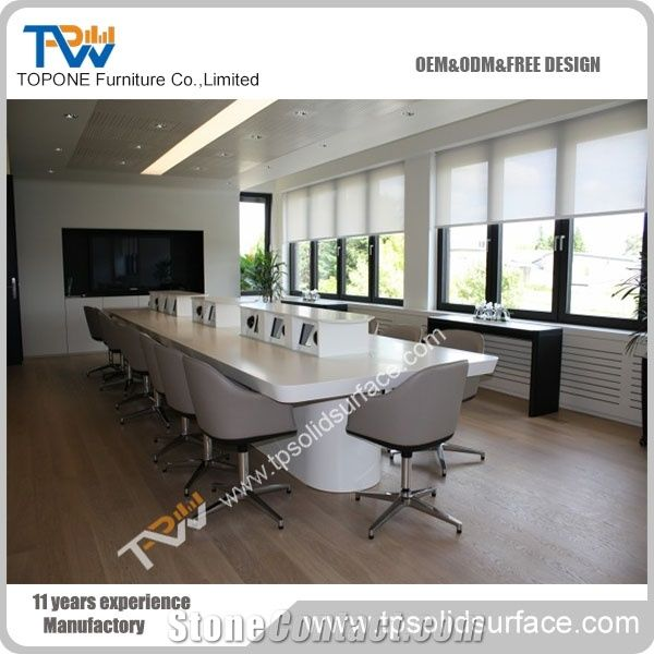 High Quality Artificial Marble Stone Acrylic Solid Surface Curved - Curved conference table
