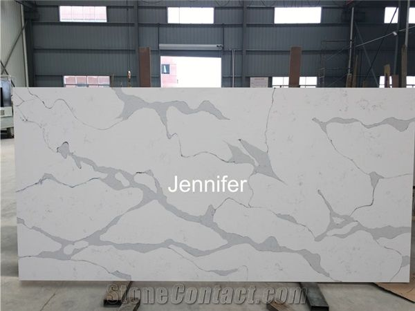 Engineered Quartz Stone Big Slabs For Kitchen Countertop,Artificial Marble  Countertop,Quartz Stone,White Calacatta Quartz Countertop Material