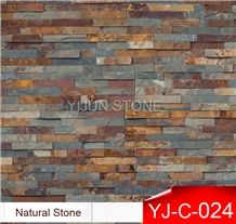 China Rust Slate Wall Cladding, Wall Panel, Natural Culture Stone, Hebei Province Factory