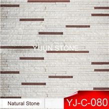 Factory Direct Sale Crystal White Quartzite Culture Stone, Wall Cladding, Wall Panel from Hebei, China