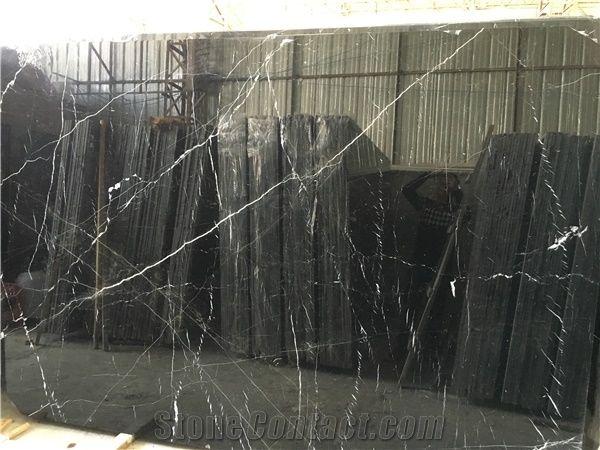 Black White Stripe Slab Black And White Sardegna Marble