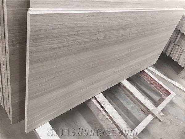 Grey Wood Grain Slab Block Silk Georgette Light Grey Wood