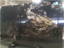 Brazil Titanium Granite Slabs/ Black Cosmics Granite/Titanium Slabs