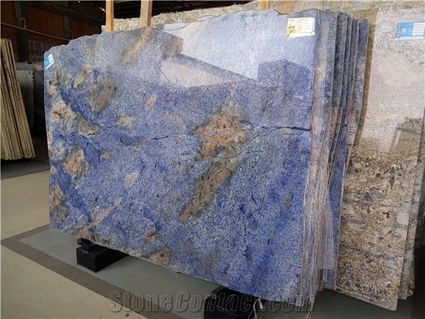 Hot S Azul Bahia Granite Blue Slabs Stone Tiles Wall Covering