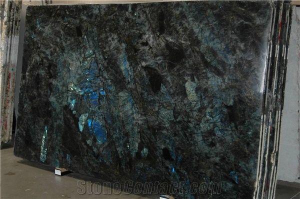 Popular Labradorite Blue Granite Polished Slabs Tiles