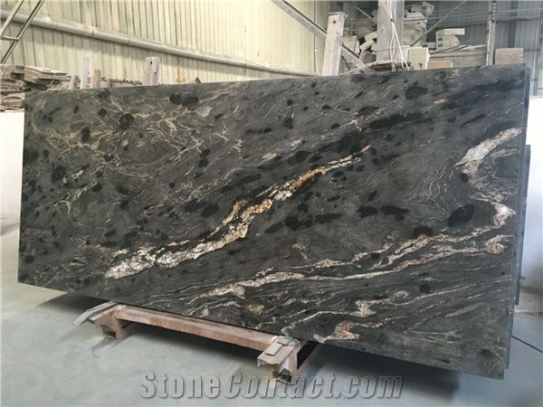 Black Cosmic Granite Slabs Titanium Granite Slabs Cosmic