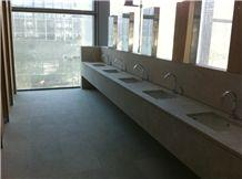 Gris Perla Crema Granite Commercial Worktop in Campus Repsol Building, Madrid