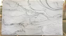 Infinity White Sea Pearl Quartzite Slab
