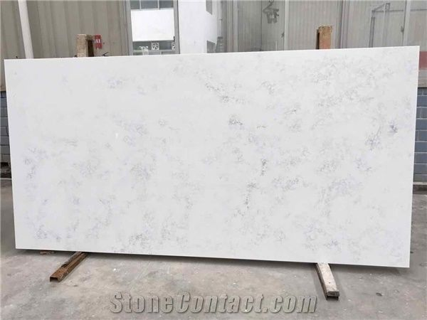 bianco carrara marble look quartz stone slab big pattern for kitchen and vanity quartz. Black Bedroom Furniture Sets. Home Design Ideas