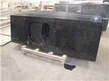 Angola Black Granite Polished Countertops China