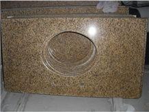 Vietnam Yellow Granite Polished Bath Countertops,Vanity Top