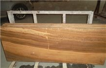 Wood Grain Yellow Marble Kitchen Countertops