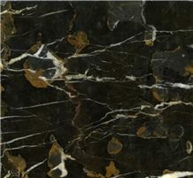 Black Gold Marble Slabs, China Black Marble