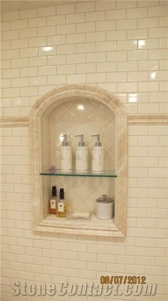 Porcelain Tiles Bathroom Niche Design