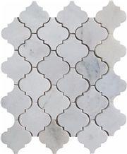 Marble Mosaic Arabesque Tile with Mugla White