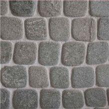 Cobbles Antique Kavalas, Grey Slate Cubes, Pavers