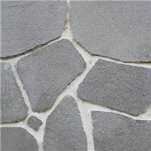 Polygonal Slate Kavalas Flagstone, Kavalas Grey Slate Flagstone